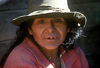 Portriat of rural Peruvian middle aged female