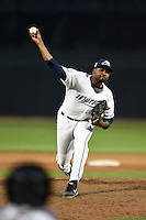 West Michigan Whitecaps pitcher Montreal Robertson (31) delivers a pitch during a game against the Great Lakes Loons on June 5, 2014 at Fifth Third Ballpark in Comstock Park, Michigan.  West Michigan defeated Great Lakes 6-2.  (Mike Janes/Four Seam Images)
