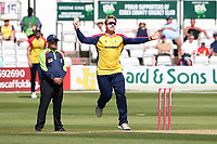 Simon Harmer in bowling action for Essex during Essex Eagles vs Middlesex, Vitality Blast T20 Cricket at The Cloudfm County Ground on 18th July 2021