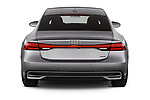 Straight rear view of a 2018 Audi A7 Sportback S Line 5 Door Hatchback stock images