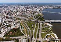aerial photograph downtown Louisville, Kentucky