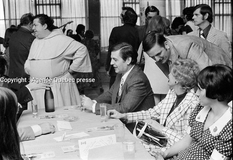 FILE PHOTO - Progressive Conservative Member of Parliament for Saint-Hyacinthe Claude Wagner in April 1973.<br /> <br /> PHOTO : Agence Quebec Presse - Alain Renaud