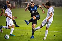 SAN JOSE, CA - SEPTEMBER 13: Guram Kashia #37 of the San Jose Earthquakes during a game between Los Angeles Galaxy and San Jose Earthquakes at Earthquakes Stadium on September 13, 2020 in San Jose, California.