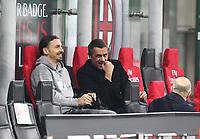 Milano 03-03-2021<br /> Stadio Giuseppe Meazza<br /> Serie A  Tim 2020/21<br /> Milan - Udinese<br /> nella foto:    Maldini Zlatan Ibraimovic                                                      Antonio Saia