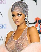 NEW YORK CITY, NY, USA - JUNE 02: Rihanna arrives at the 2014 CFDA Fashion Awards held at Alice Tully Hall, Lincoln Center on June 2, 2014 in New York City, New York, United States. (Photo by Celebrity Monitor)