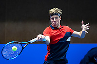 Alphen aan den Rijn, Netherlands, December 14, 2018, Tennispark Nieuwe Sloot, Ned. Loterij NK Tennis,  Scott Griekspoor (NED)<br /> Photo: Tennisimages/Henk Koster