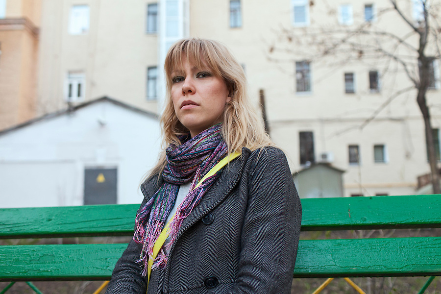 Moscow, Russia, 02/05/2013..Anti-Putin political activist Maria Baronova, one of the organisers of the May 2012 protest that descended into violence, and who is still facing charges as a result of the day's events.
