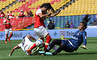 BOGOTA -COLOMBIA, 23-04-2017.Action game between   Independiente Santa Fe and Patriotas  during match for the date 9 of the Women´s  Aguila League I 2017 played at Nemesio Camacho El Campin stadium . Photo:VizzorImage / Felipe Caicedo  / Staff