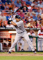 13 June 2006: Yorvit Torrealba, catcher for the Colorado Rockies, at bat during a game against the Washington Nationals at RFK Stadium, in Washington, DC. The Rockies defeated the Nationals 9-2 in the second game of the four-game series...Mandatory Photo Credit: Ed Wolfstein Photo..