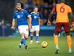 St Johnstone v Galatasaray…12.08.21  McDiarmid Park Europa League Qualifier<br />Shaun Rooney<br />Picture by Graeme Hart.<br />Copyright Perthshire Picture Agency<br />Tel: 01738 623350  Mobile: 07990 594431