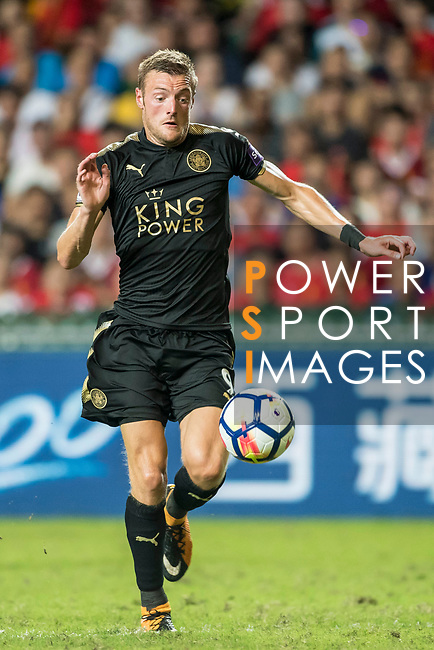 Leicester City FC forward Jamie Vardy in action during the Premier League Asia Trophy match between Liverpool FC and Leicester City FC at Hong Kong Stadium on 22 July 2017, in Hong Kong, China. Photo by Weixiang Lim / Power Sport Images