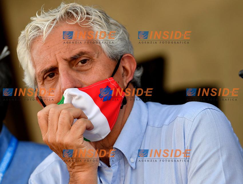 Cesare Butini, head coach of the italian team, attends the <br /> during the 58th Sette Colli Trophy International Swimming Championships at Foro Italico in Rome, June 27th, 2021.  <br /> Photo Andrea Staccioli / Deepbluemedia / Insidefoto