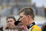 Sep Vanmarcke (BEL) Team Lotto NL-Jumbo at the Team Presentations in Compiegne before the 2015 Paris-Roubaix cycle race held over the cobbled roads of Northern France. 11th April 2015.<br /> Photo: Eoin Clarke www.newsfile.ie