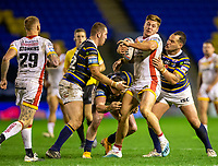13th November 2020; The Halliwell Jones Stadium, Warrington, Cheshire, England; Betfred Rugby League Playoffs, Catalan Dragons versus Leeds Rhinos; Tom Davies of Catalans Dragons is tackled