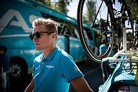 Astana team manager Alexandr Vinokurov at the race start<br /> <br /> Stage 18: Colmenar Viejo to Becerril de la Sierra (178km)<br /> La Vuelta 2019<br /> <br /> ©kramon