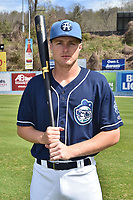 Asheville Tourists infielder Tyler Nevin (23) during media day at McCormick Field on April 4, 2017 in Asheville, North Carolina. (Tony Farlow/Four Seam Images)