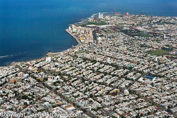 aerial photograph toward the Costa de Oro, Veracruz, Mexico