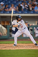Cody Decker (17) of the Reno Aces bats against the Nashville Sounds at Greater Nevada Field on June 5, 2019 in Reno, Nevada. The Aces defeated the Sounds 3-2. (Stephen Smith/Four Seam Images)