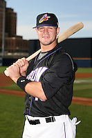 July 10th 2008:  Matt LaPorta of the Akron Aeros, Class-AA affiliate of the Cleveland Indians, during a game at Canal Park in Akron, OH.  Photo by:  Mike Janes/Four Seam Images