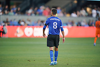 SAN JOSE, CA - JULY 24: Chris Wondolowski #8 of the San Jose Earthquakes during a game between Houston Dynamo and San Jose Earthquakes at PayPal Park on July 24, 2021 in San Jose, California.
