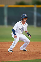 Lakeland Flying Tigers shortstop Casey Frawley (10) leads off during a game against the Brevard County Manatees on April 20, 2016 at Henley Field in Lakeland, Florida.  Lakeland defeated Brevard County 5-2.  (Mike Janes/Four Seam Images)