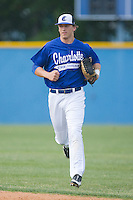 Ty Linton #17 of the Charlotte Christian Knights in game action against the Charlotte Latin Hawks on May 5, 2010 in Charlotte, North Carolina  Photo by Brian Westerholt / Four Seam Images