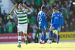 St Johnstone v Celtic..30.10.10  .Emilio Izaguirre celebrates his goal.Picture by Graeme Hart..Copyright Perthshire Picture Agency.Tel: 01738 623350  Mobile: 07990 594431