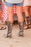 Usa,Wyoming, Cheyenne,a woman dress a tipical boot at Frontier days 2017