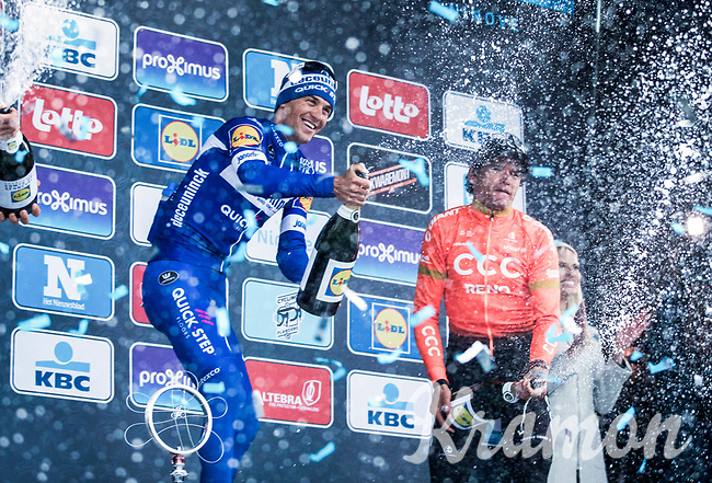 podium:<br /> <br /> 1. Zdenek Stybar (CZE/Deceuninck Quick Step)<br /> 2. Greg Van Avermaet (BEL/CCC)<br /> 3. Tim Wellens (BEL/Lotto Soudal)<br /> <br /> <br /> 74th Omloop Het Nieuwsblad 2019 (BEL)<br /> Gent – Ninove: 200km<br /> ©kramon