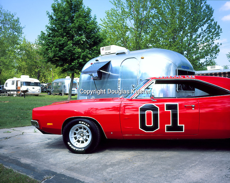 """17 Foot 1967 Airstream Caravel<br />Paired with the """"General Lee"""" 1969 Dodge Charger with 440 cu in owned by<br />David Beller"""