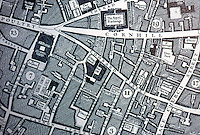London: City Plan, 1746. Detail: Mansion House, Royal Exchange, Poultry, Cornhill and Lombard St.    Reference only.