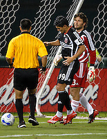 DC United forward Jaime Moreno (99) retrieves the ball after scoring his 109th career MLS goal in the minute 48th of the game on a penalty kick. DC United defeated the New York Red Bulls 3-1 at RFK Stadium in Washington DC, Thursday August  22, 2007.
