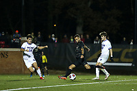 WINSTON-SALEM, NC - DECEMBER 07: Bruno Lapa #10 of Wake Forest University takes a shot during a game between UC Santa Barbara and Wake Forest at W. Dennie Spry Stadium on December 07, 2019 in Winston-Salem, North Carolina.