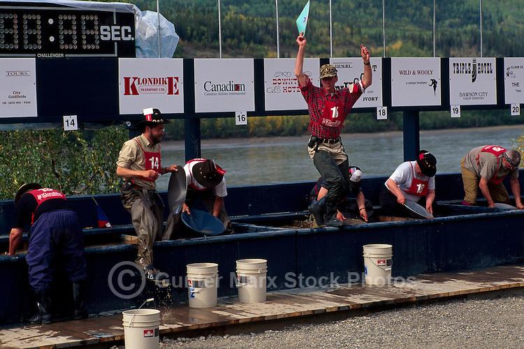 "At the World Gold Panning Championships in ""Dawson City"", Yukon, Canada"