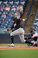 Jupiter Hammerheads Jerar Encarnacion (45) at bat during a Florida State League game against the Tampa Tarpons on July 26, 2019 at George M. Steinbrenner Field in Tampa, Florida.  Tampa defeated Jupiter 2-0 in the first game of a doubleheader.  (Mike Janes/Four Seam Images)