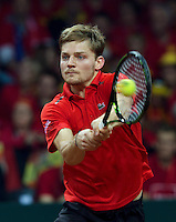 Gent, Belgium, November 27, 2015, Davis Cup Final, Belgium-Great Britain, First match, David Goffin (BEL)<br /> © Henk Koster/Alamy Live News