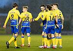 St Mirren v St Johnstone…19.12.20   St Mirren Park      SPFL<br />Scott Tanser celebrates his goal<br />Picture by Graeme Hart.<br />Copyright Perthshire Picture Agency<br />Tel: 01738 623350  Mobile: 07990 594431