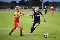 Edinburg, TX - Wednesday September 27, 2017: Janine Van Wyk, Ashley Hatch during a regular season National Women's Soccer League (NWSL) match between the Houston Dash and the North Carolina Courage at H-E-B Park.