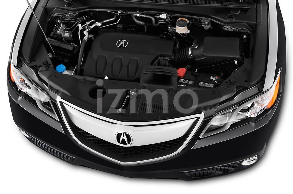 Car stock 2014-2015 Acura RDX Tech  5 Door SUV engine high angle detail view