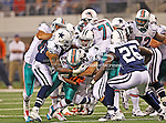Miami Dolphins running back Reggie Bush (22) in action during the Thanksgiving Day game between the Miami Dolphins and the Dallas Cowboys at the Cowboys Stadium in Arlington, Texas. Dallas defeats Miami 20 to 19...