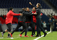 Soccer Football - Champions League - Round of 16 Second Leg - Paris St Germain v Borussia Dortmund - Parc des Princes, Paris, France - March 11, 2020  Paris St Germain coach Thomas Tuchel celebrates after the match with coaching staff   <br /> Photo Pool/Panoramic/Insidefoto