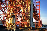 California, San Francisco, Fort Point beneath Golden Gate Bridge