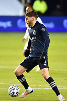 KANSAS CITY, KS - OCTOBER 24: Ilie Sanchez #6 of Sporting Kansas City with the ball during a game between  at Children's Mercy Park on October 24, 2020 in Kansas City, Kansas.