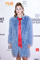 """Hermione Corfield<br /> arriving for the World premiere of """"Bees Make Honey"""" at the Vue West End, Leicester Square, London<br /> <br /> <br /> ©Ash Knotek  D3314  23/09/2017"""