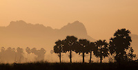 Sunrise silhouette in Hpa An, Myanmar