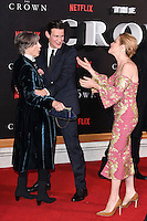 """Dame Eileen Atkins, Matt Smith and Claire Foy<br /> at the World Premiere of the Netflix series """"The Crown"""" at the Odeon Leicester Square, London.<br /> <br /> <br /> ©Ash Knotek  D3192  01/11/2016"""