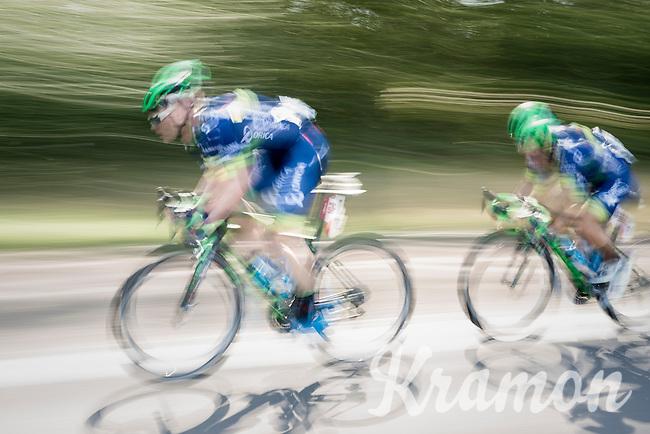 Michael Hepburn (AUS/ORICA-BikeExchange) & Caleb Ewan (AUS/ORICA-BikeExchange)<br /> <br /> 12th Eneco Tour 2016 (UCI World Tour)<br /> Stage 6: Riemst › Lanaken (185km)