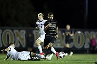 WINSTON-SALEM, NC - DECEMBER 07: Bruno Lapa #10 of Wake Forest University avoids a tackle during a game between UC Santa Barbara and Wake Forest at W. Dennie Spry Stadium on December 07, 2019 in Winston-Salem, North Carolina.