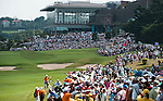 Yani Tseng' supporters stand along the 9th hole during the Day 4 of the LPGA Sunrise Taiwan Championship on at Sunrise Golf Course on October 23, 2011 in Taoyuan, Taiwan. Photo by Victor Fraile / The Power of Sport Images