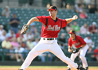 2007:  Jason Miller of the Rochester Red Wings, Class-AAA affiliate of the Minnesota Twins, during the International League baseball season.  Photo By Mike Janes/Four Seam Images